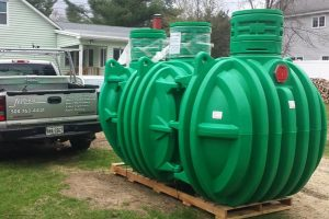 Enclosed septic system with risers used by Septic Preservation Services