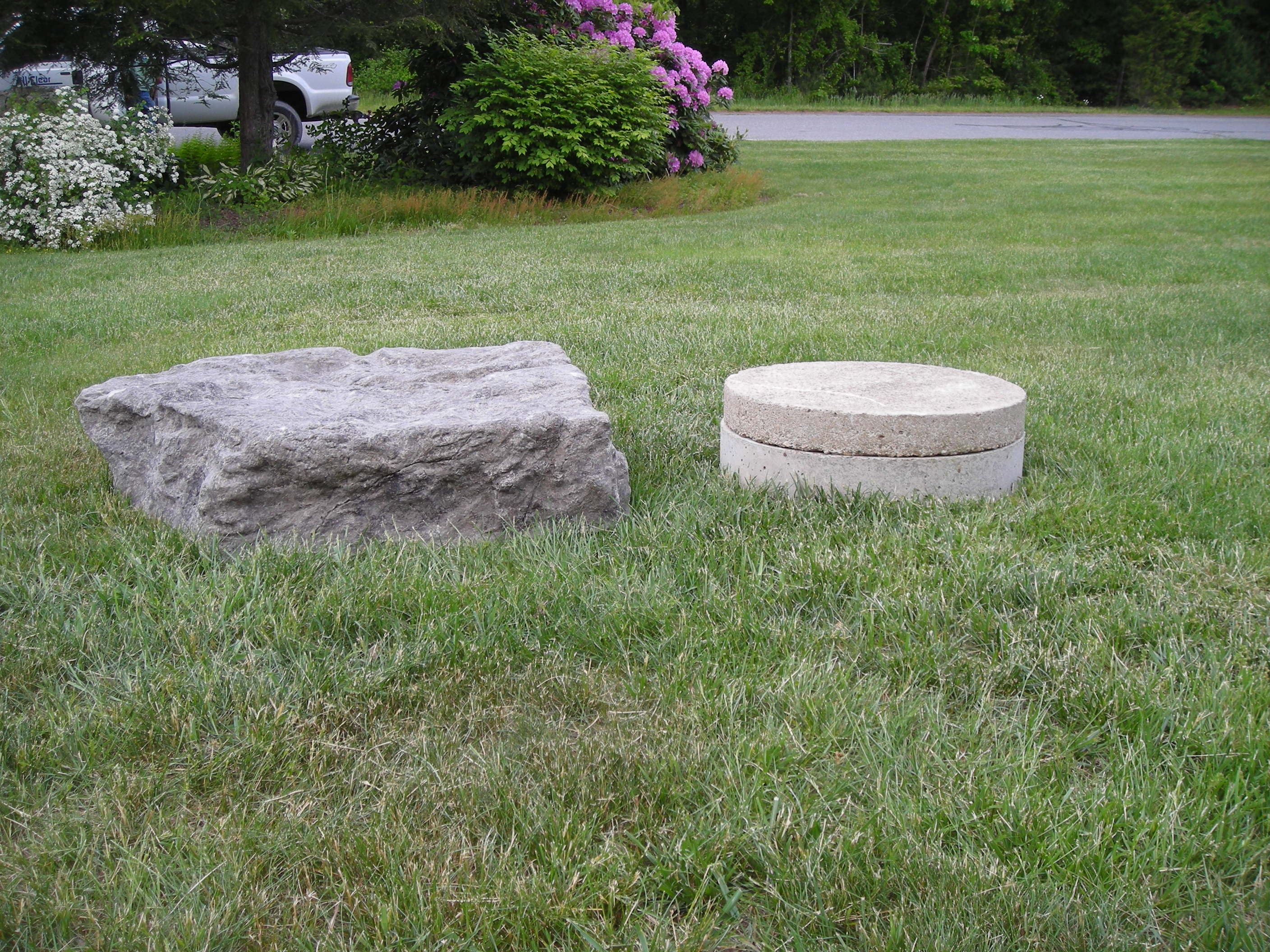 Camouflaging Septic Tank Risers